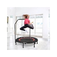 "ANCHEER Foldable 40"" Mini Trampoline Rebounder, Max Load 300lbs Rebounder Trampoline Exercise Fitness Trampoline for Adult Indoor/Garden/Workout Cardio"