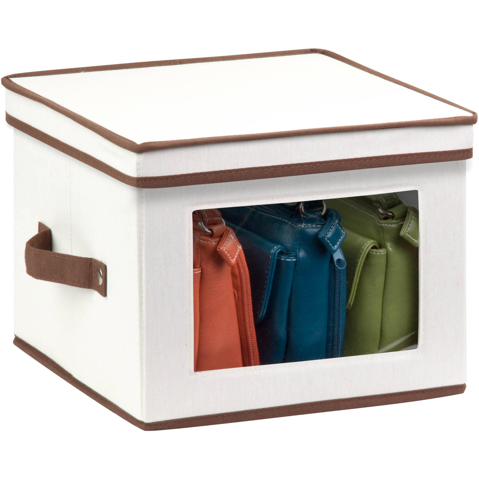 Mainstays Natural Canvas Medium Window Storage Box   Walmart.com