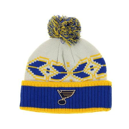 David Goliath Hats (NHL Adult St. Louis Blues David Backes #42 Pom Pom Winter Hat, OSFM )