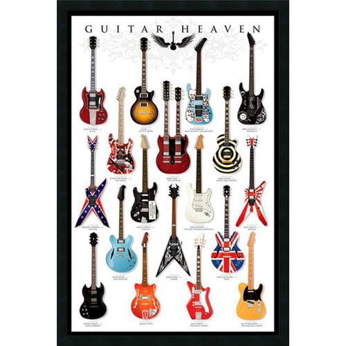 Guitar Heaven Framed Wall Art - 25.41W x 37.41H in.