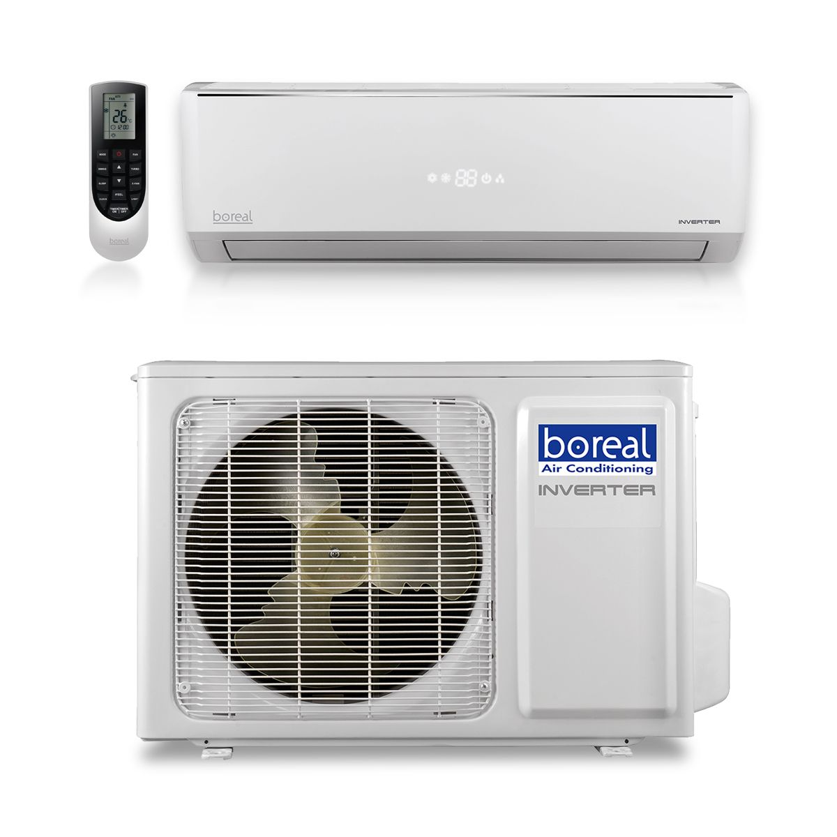 Boreal SOL24HPJ1SB - 24,000 BTU 16 SEER SOLSTAND Wall Mount Ductless Mini Split Air Conditioner Heat Pump 208-230V