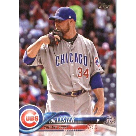 2018 Topps 266 Jon Lester Chicago Cubs Baseball Card