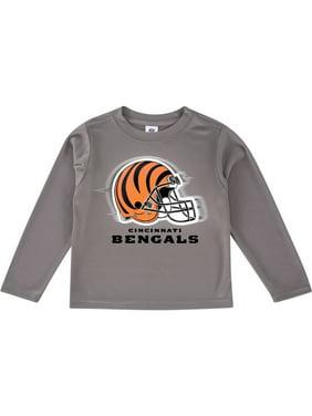 Toddler Gray Cincinnati Bengals Team Logo Long Sleeve T-Shirt