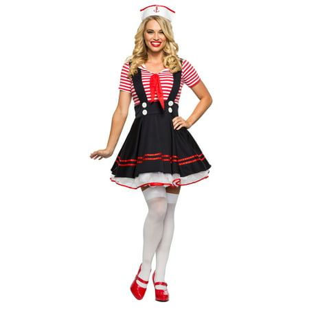 Women's Retro Sailor Girl Costume - Sailor Coatume