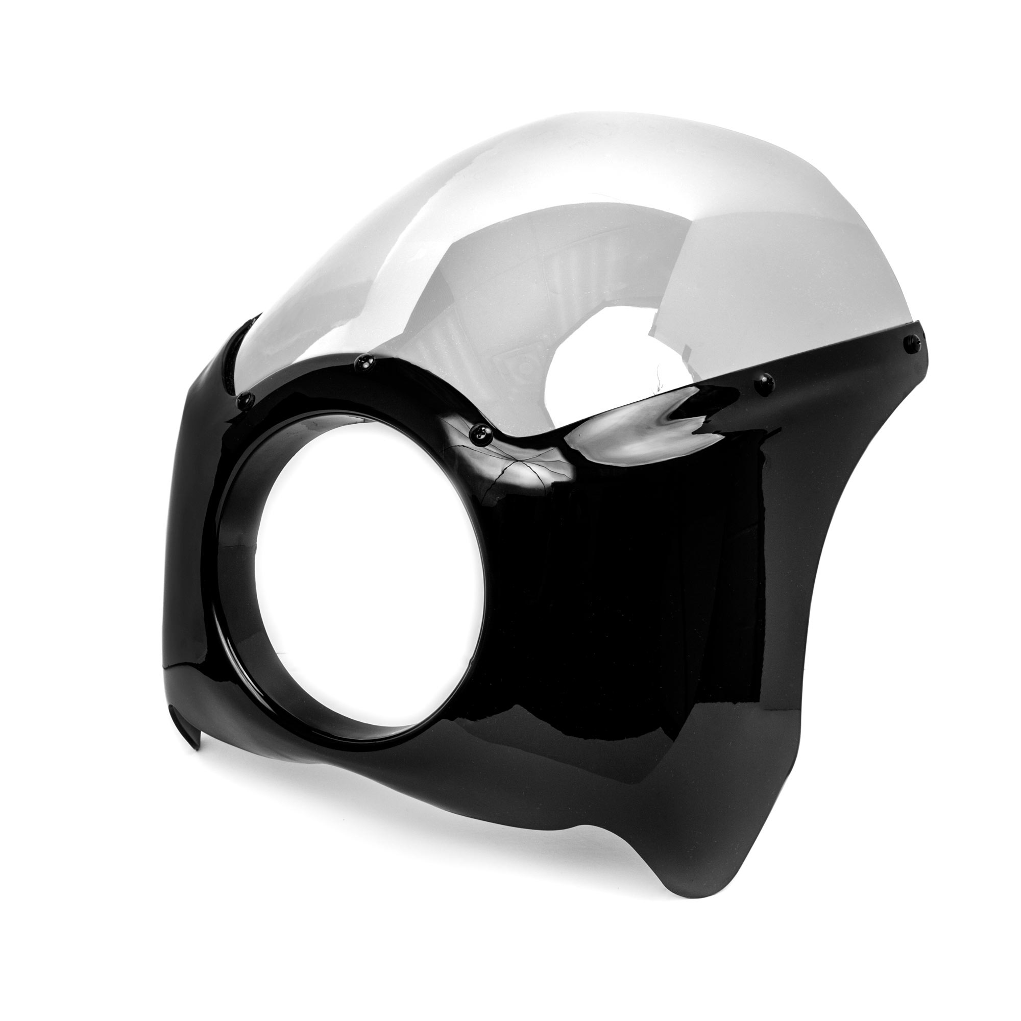 Krator Black & Clear Headlight Fairing Windshield Kit for Kawasaki ZR Zephyr 550 750 - image 5 of 6