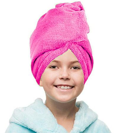 Super Absorbent Hair Turban (Kid's Quick Absorbent Microfiber Hair Twist Wrap Turban Towel )