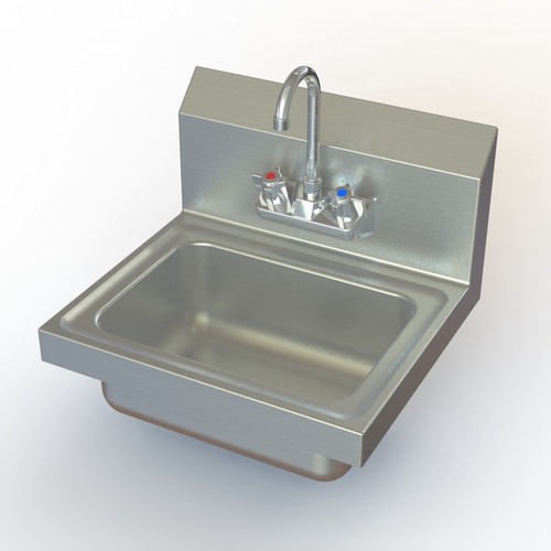Aero Manufacturing NSF 17'' x 15'' Single Hand Sink with Faucet