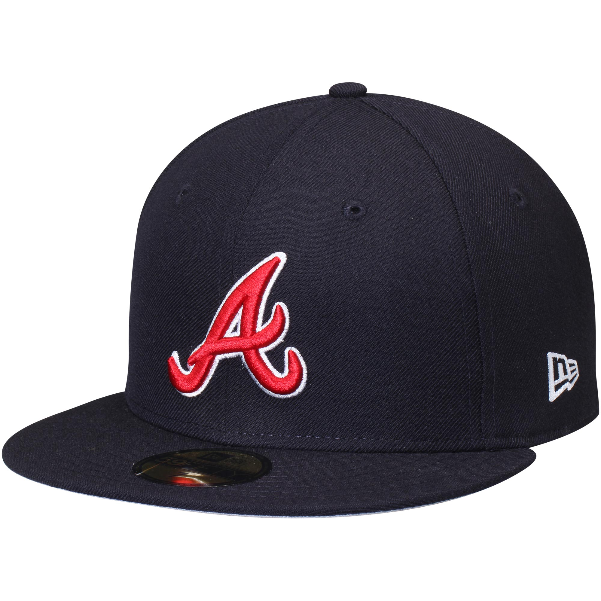 Atlanta Braves New Era Wool Standard 2 59FIFTY Fitted Hat - Navy
