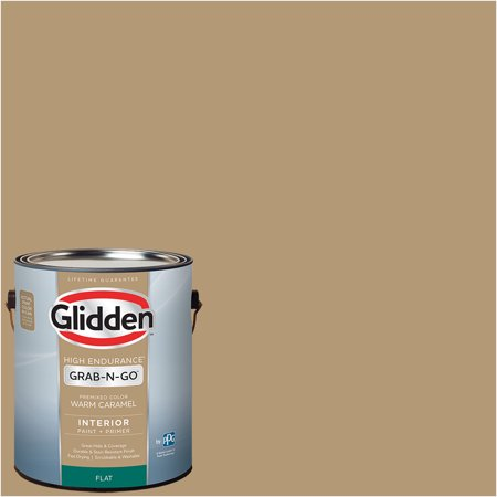 Glidden Pre Mixed Ready To Use, Interior Paint and Primer, Warm Caramel, 1