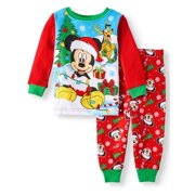 Christmas Long Sleeve Tight Fit Pajamas, 2pc Set (Baby Boys)