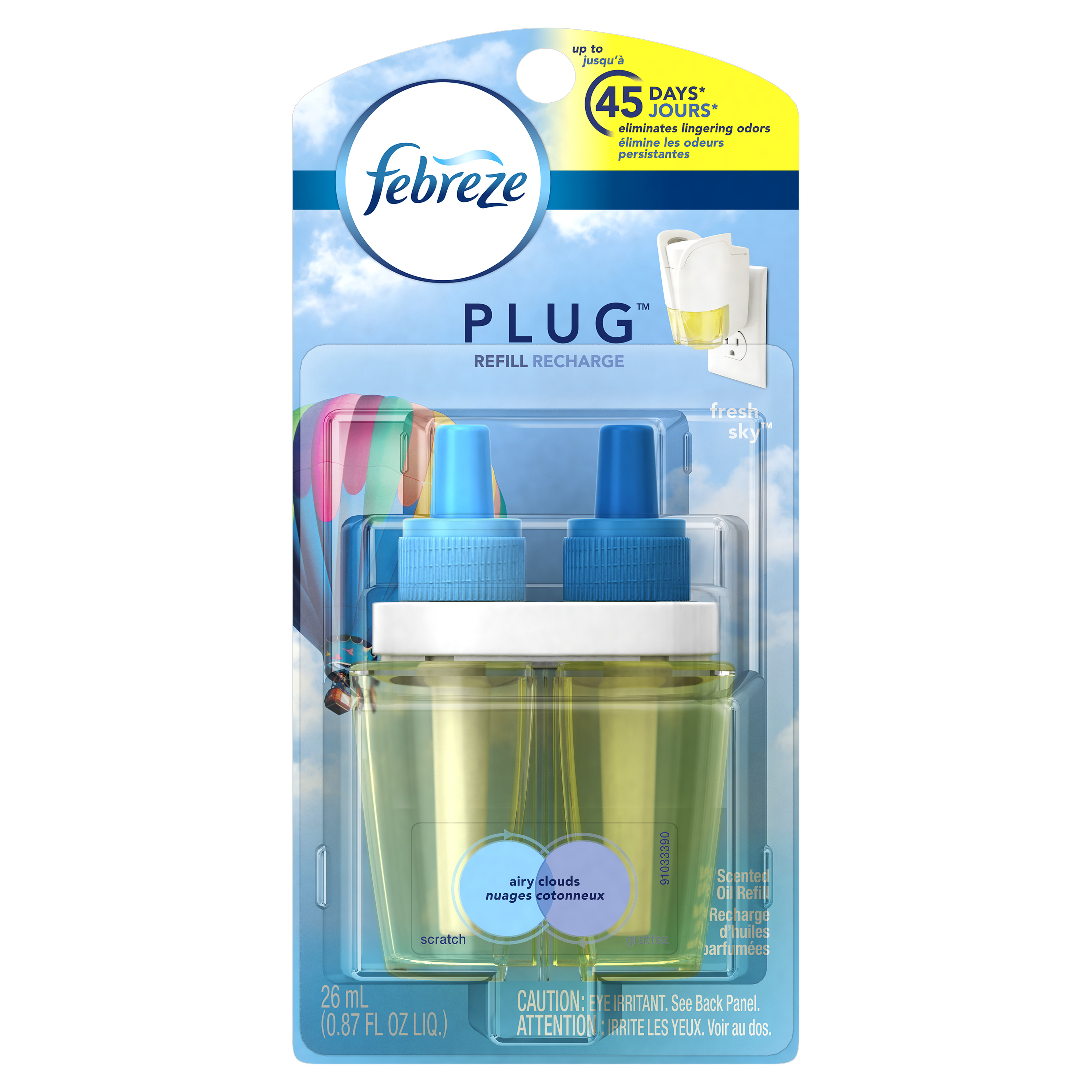 Febreze PLUG Air Freshener Refill Fresh Sky (1 Count, 0.87 oz)