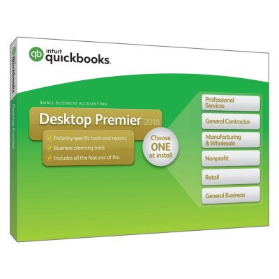 Quickbooks Desktop Premier 2018  Pc Disc