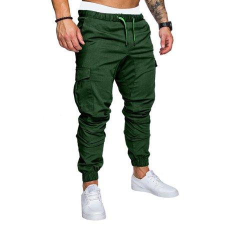 PDYLZWZY Men's Slim Fit Urban Straight Leg Trousers Casual Pencil Jogger Cargo Pants