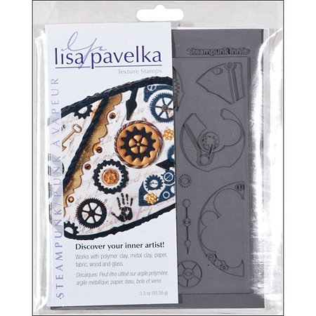 Lisa Pavelka Steampunk Texture Stamp Set, Innie & Outtie 6 Pack Clear Stamp