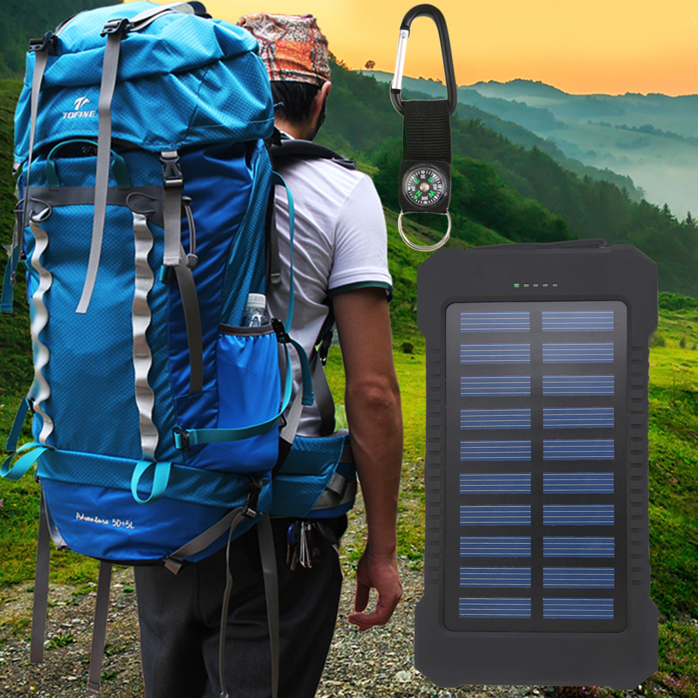 300000mAh Dual USB Portable Solar Battery Charger Solar Power Bank by