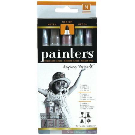 Painters Metallic Medium Nib Paint Pens, 5 -