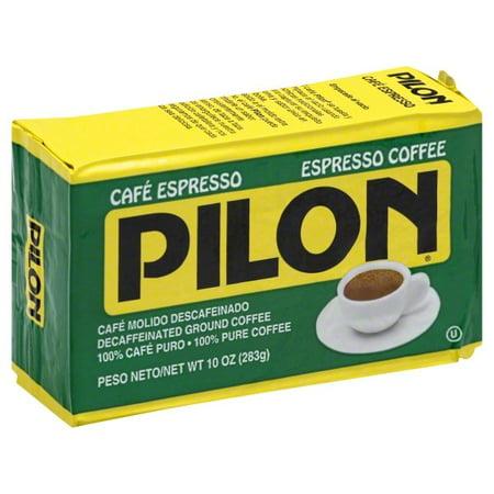 - Café Pilon Decaffeinated Espresso Ground Coffee, 10-Ounce