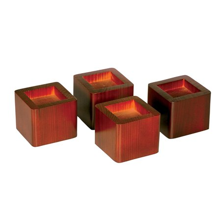 Wood Bed Risers Lift Table Furniture Lifts Storage Mahogany Set Of 4 Lifters Support