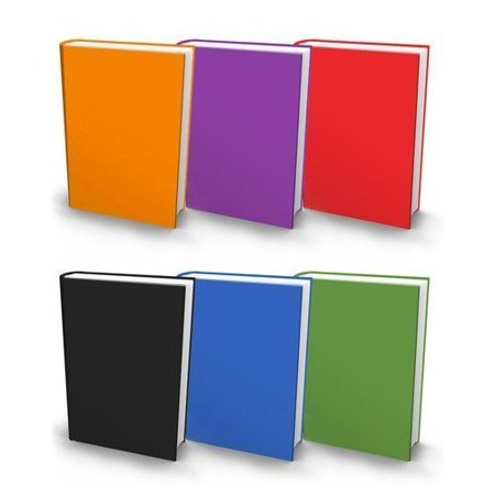 The Original Book Sox: Stretchable Jumbo Fabric Book Cover - 6 Solid Print Pack