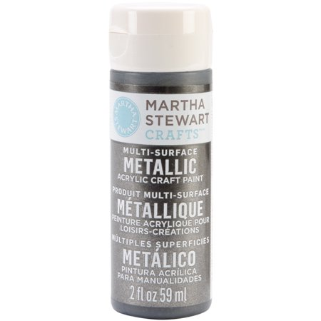 Martha stewart metallic glitter acrylic craft paint 2 for Martha stewart crafts spray paint kit