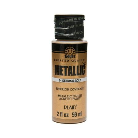 FolkArt Metallic Acrylic Paint, 2 Fl  Oz