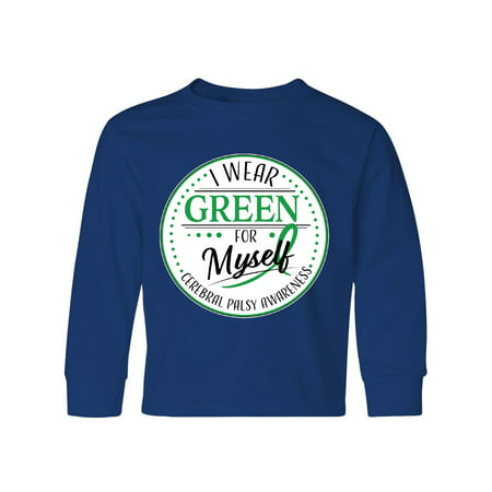 I Wear Green for Myself- Cerebral Palsy awareness Youth Long Sleeve T-Shirt