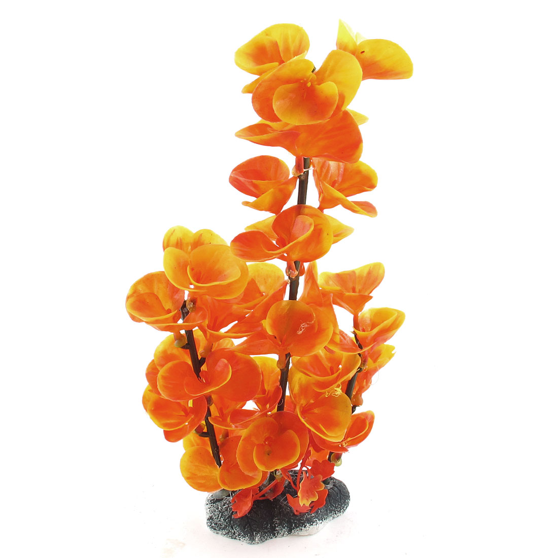 Aquarium poissons Aquarium plastique orange plante aquatique artificielle 26cm haut