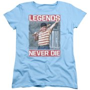 Sandlot Legends Womens Short Sleeve Shirt Light Blue