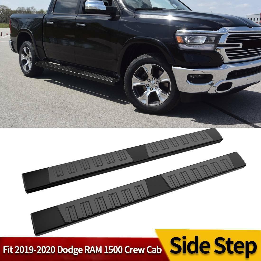 For 2019 2021 Dodge Ram 1500 Crew Cab 6 Running Board Nerf Bar Side Step Black Walmart Com Walmart Com