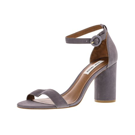 Steve Madden Women's Shanna Nubuck Grey Leather Pump - (Black Nubuck Leather)