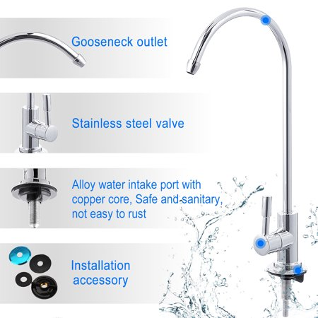 360 Rotation 304 Stainless Steel Kitchen Sink Faucet Tap