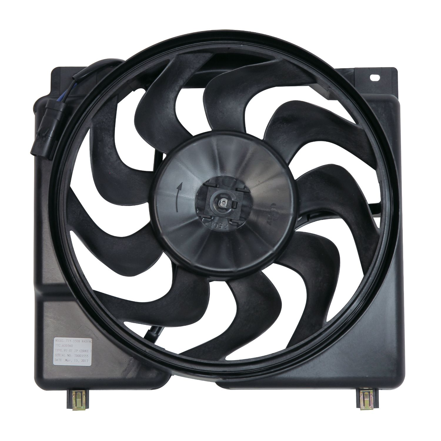 Dual Radiator and Condenser Fan Assembly TYC 620560 fits 97-01 Jeep Cherokee