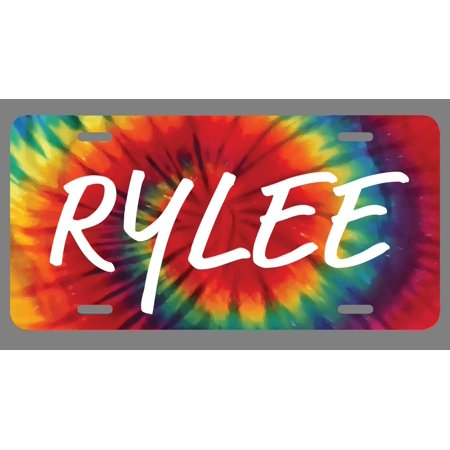 Rylee Name Tie Dye Style License Plate Tag Vanity Novelty Metal | UV Printed Metal | 6-Inches By 12-Inches | Car Truck RV Trailer Wall Shop Man Cave | NP1543