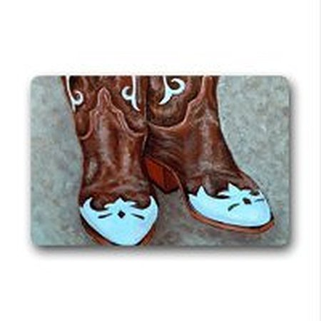 Winhome Classic Cowboy Boots Doormat Floor Mats Rugs Outdoors Indoor