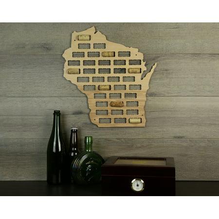 Wine Cork Traps State of Wisconsin Wooden Wine Cork Holder Organizer Wall Decoration ()