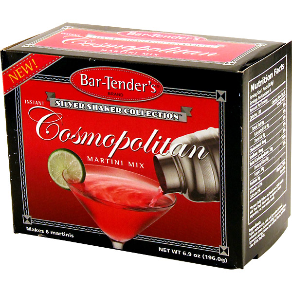 Cosmopolitan Bar-Tender's Instant Cocktail Mix Box 6 Pouches by Brady Enterprises