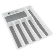 Silverware Drawer Organizer with Six Sections and Nonslip Tray By Lavish Home