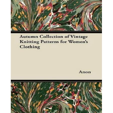 Autumn Collection of Vintage Knitting Patterns for Women's Clothing