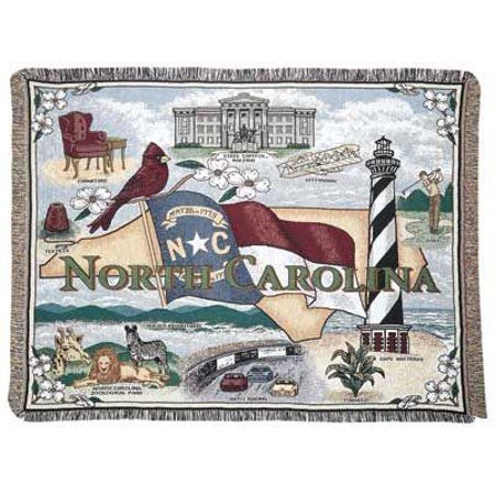 Simply Home State Of North Carolina Tapestry Throw (RTP031212)