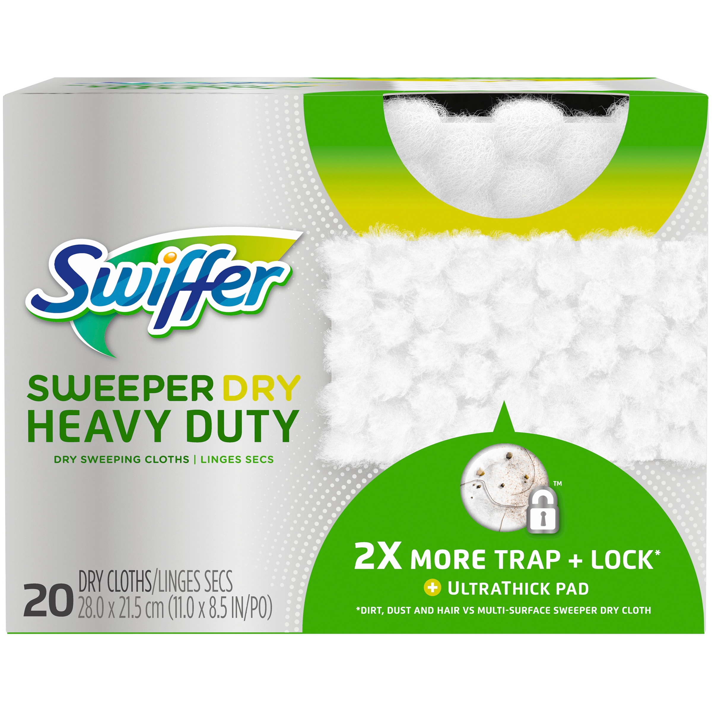 Swiffer Sweeper Heavy Duty Dry Sweeping Cloths, 20 Count