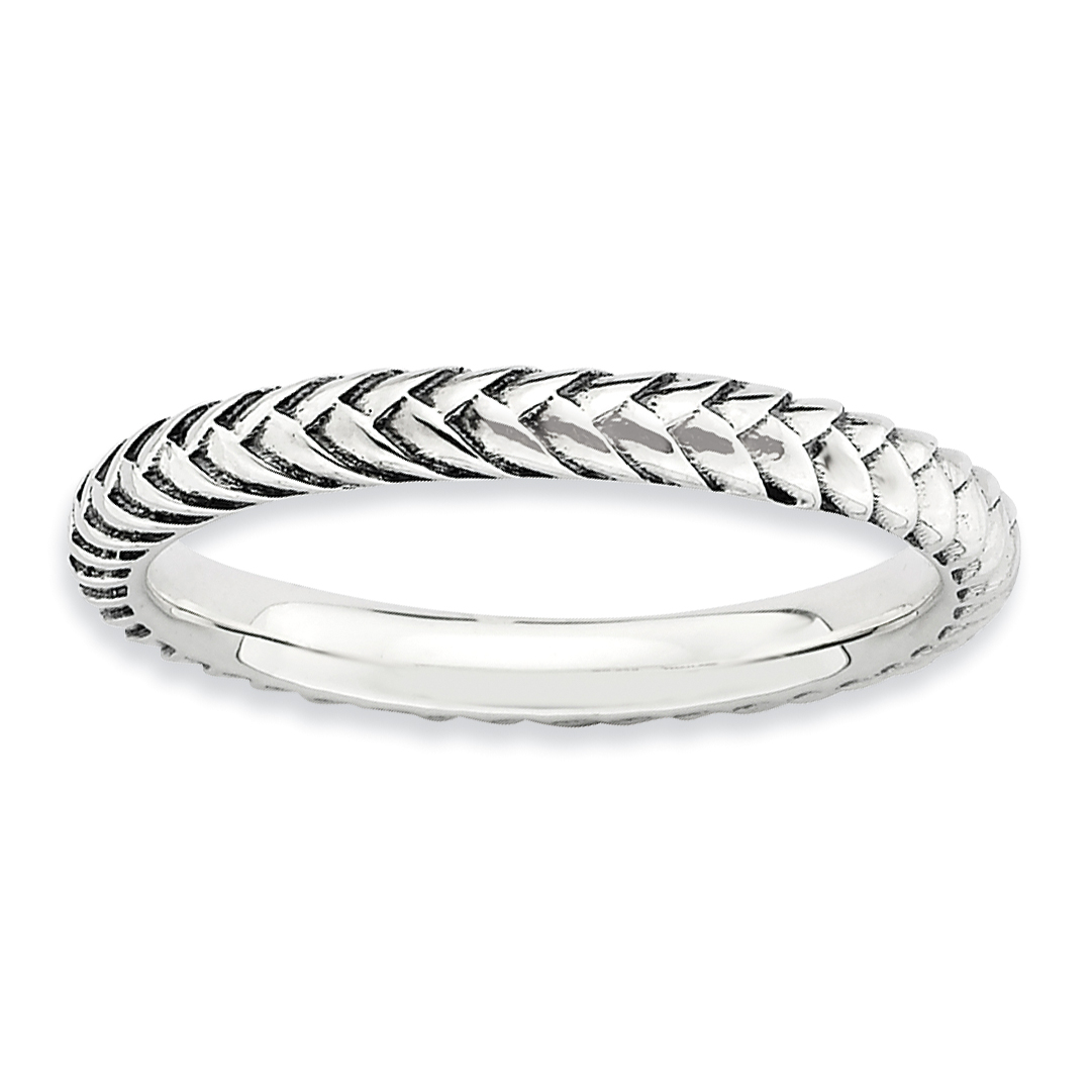 ICE CARATS 925 Sterling Silver Band Ring Size 8.00 Stackable Textured Fine Jewelry Ideal Gifts For Women Gift Set From Heart