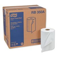 "Tork Advanced Hardwound Roll Towel, 7.88"" x 350 ft, White, 12 Rolls/Carton -TRKRB350A"