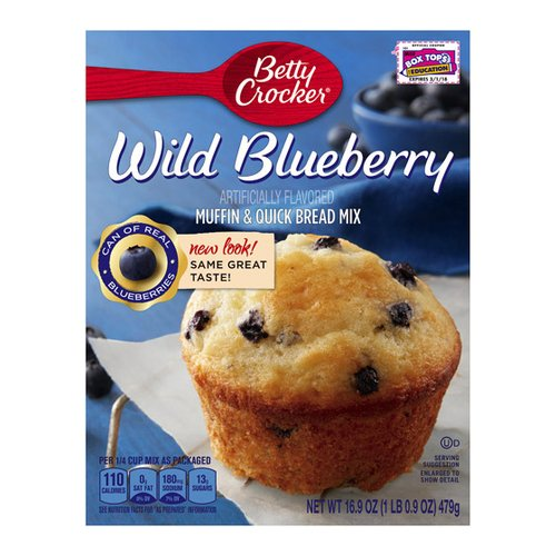 Betty Crocker? Wild Blueberry Muffin & Quick Bread Mix 16.9 oz. Box