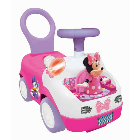 Kiddieland Minnie Mouse Dancing Activity Interactive Ride-On Car with Sounds