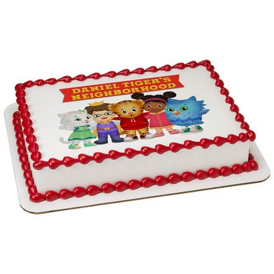 Daniel Tiger Edible Icing Image Cake Topper (7.5 Inch Round) ()