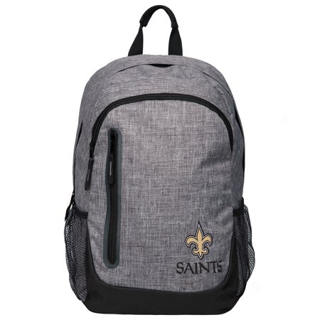 Forever Collectibles - Heather Grey Bold Color Backpack, New Orleans Saints - New Orleans Saints Bag