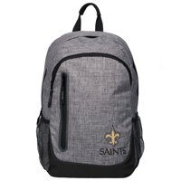 Forever Collectibles - Heather Grey Bold Color Backpack, New Orleans Saints