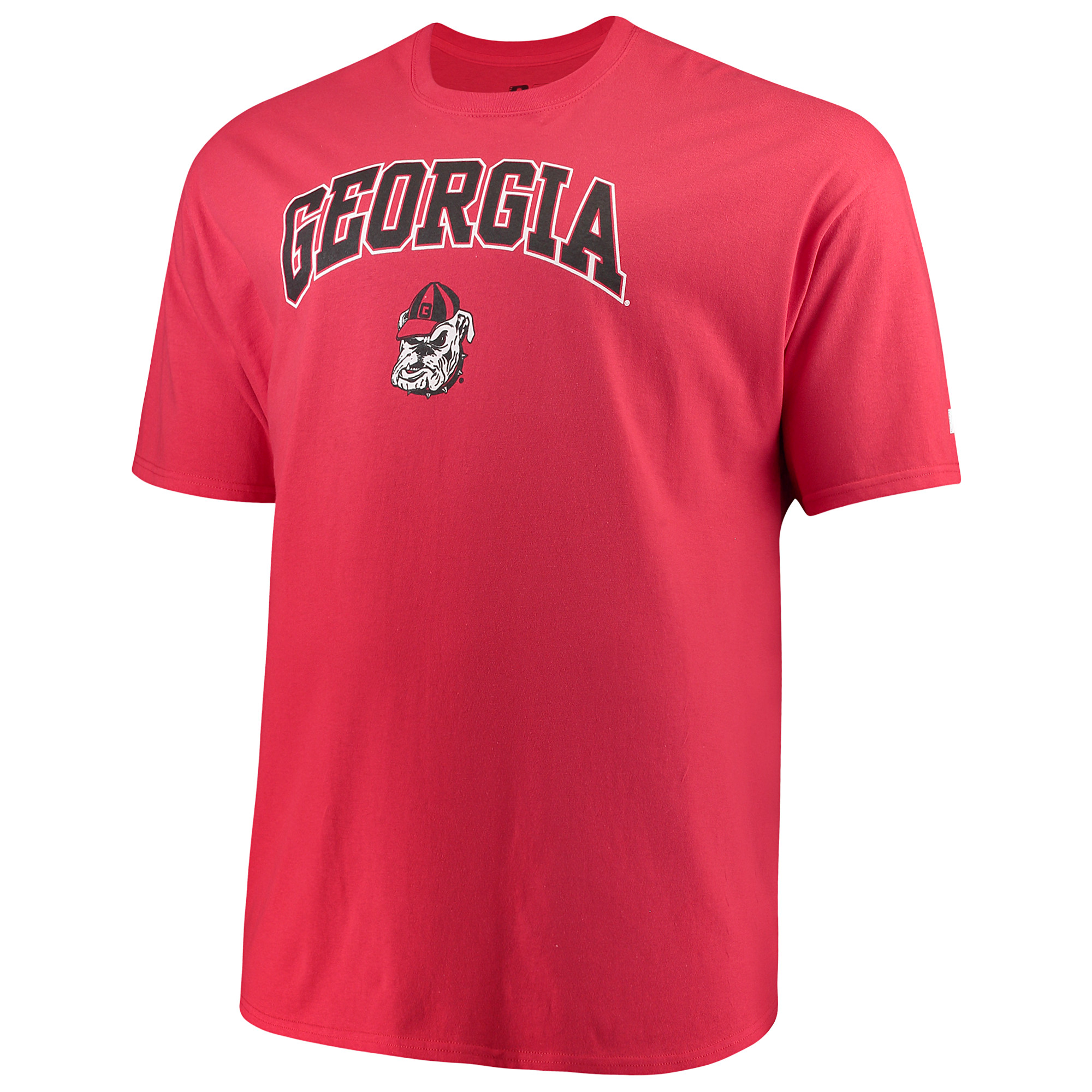 Men's Russell Red Georgia Bulldogs Big & Tall Classic Crew Neck T-Shirt