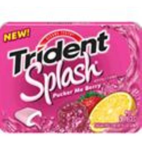 Trident  Splash Sugar Free Gum Pucker Me Berry 10 pack (9 ct per pack) (Pack of 2)