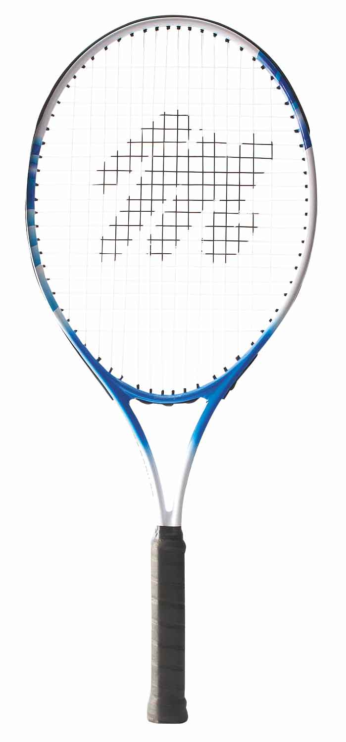 """MacGregor Wide Body Tennis Racquet 27""""L 4 3 8"""" Grip (Blue White) by BSN Sports"""